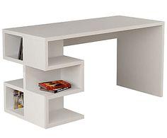 Письменный стол Aaron - ДСП - белый, 75x140x60 см