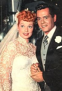 I believe this is a wedding photo of Lucy and Desi's second wedding.....