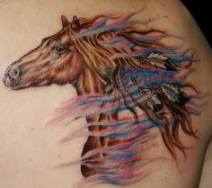 equine tattoo on pinterest horse tattoos tattoo horse and horseshoe tattoos. Black Bedroom Furniture Sets. Home Design Ideas