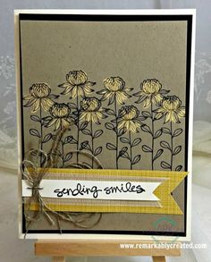 Stampin' Up! FLowering Fields Bleach Technique #stampinup #remarkablycreated