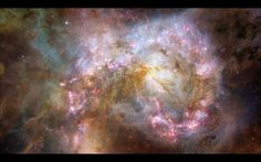 Galaxy Traveling through a galaxy and star fields in deep space. A Luna Blue Imagery for Your Imagination