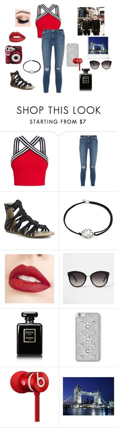 """""""Dan & Phil Showing Me Around London~The Boy With The Cat Whiskers"""" by gravityfallsgirl33 ❤ liked on Polyvore featuring Frame, Mark & Maddux, Alex and Ani, Jouer, River Island, Chanel, MICHAEL Michael Kors, Beats by Dr. Dre and Polaroid"""