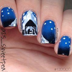 Nailpolis Museum of Nail Art Christmas Nail Art Designs, Nail Designs Spring, Xmas Nails, Christmas Nails, Special Nails, Christian Christmas, Hand Painting Art, Winter Nails, Nail Colors