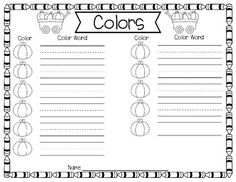 Fall and Thanksgiving Number Word Activity - Clip Cards by Sally Ellerbee Color Word Activities, Number Words, Recording Sheets, Halloween Coloring, Sally, Numbers, Cards, Thanksgiving, Thanksgiving Tree