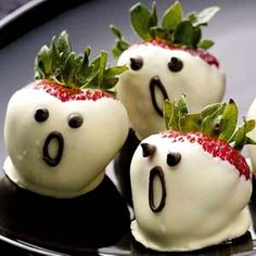 Strawberry Ghosts, 46 Awesome Halloween Recipes
