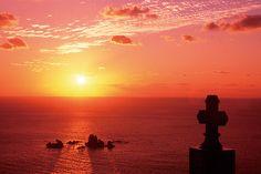 大ヶ瀬の夕陽