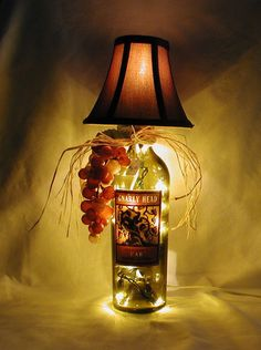 GIFT FOR A WINE LOVER.  See many more unique lamps at crwinebottles.com