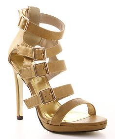 Love this Beige Buckles Rayna Sandal by Cape Robbin Collection on #zulily! #zulilyfinds