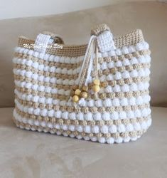 """New Cheap Bags. The location where building and construction meets style, beaded crochet is the act of using beads to decorate crocheted products. """"Crochet"""" is derived fro Crochet Purse Patterns, Bag Crochet, Crochet Shell Stitch, Crochet Handbags, Crochet Purses, Crochet Crafts, Crochet Stitches, Crochet Projects, Knitting Patterns"""
