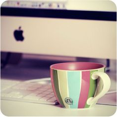 Loving the stripes and color of this mug