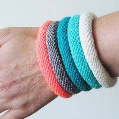 The Easy Knitted Bangle is a great project if you're looking for easy-to-make accessories.