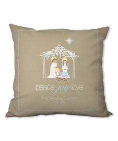Look at this #zulilyfind! Wishful Nativity Personalized Pillow #zulilyfinds