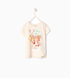 "Image 1 of ""Animals"" printed T-shirt from Zara"