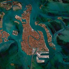 Lagune aus der Luft - Venedig