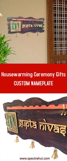 Indian Home decor - Ethnic Nameplate for home doors Bring a little India in your home. Get Custom nameplate for your Indian home decor. More indian decorations and home decor ideas available on SPECTRAHUT. Wooden Name Plates, Door Name Plates, Name Plates For Home, Personalized Name Plates, Boho Home, Hippie Home Decor, Indian Home Decor, Classic Home Decor, Cute Home Decor