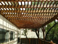 This pergola gives plenty of shade. We loved how it came out! #handymantx, #outdoors
