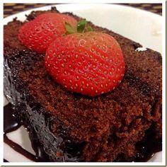 Chocolate cake with chocolate dressing