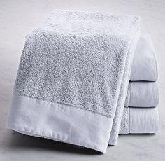 Linen-Bordered 650-Gram Turkish Bath Sheet