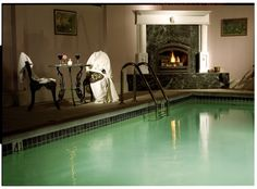The Pink Mansion is the only bed and breakfast in the Napa Valley with an indoor-heated pool.