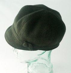 Forest Green Wool Newsboy Hat  Womens Hats Girls by rocksandsalt, $64.00