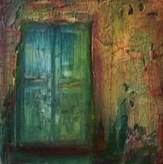 """The Old Green Door"" - Original Fine Art for Sale - © Patt Scrivener"