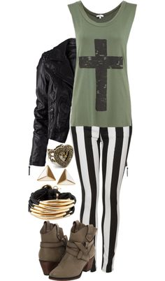 """Cross Tank"" by paigeander on Polyvore"