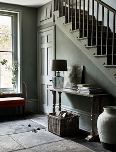 Home Inspiration, Style & Interior Design Tips Hallway Paint, Hallway Flooring, Room Paint, Wooden Flooring, Antique Furniture, Modern Furniture, Neptune Home, Cool Color Palette, Interior Decorating