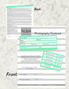 Photography Contract Agreement  Simple  Customizable  Contract