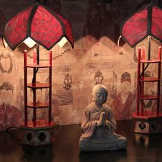 Pagoda  Lamps with Fortuny shades, webshop