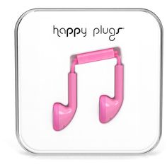 HAPPY PLUGS Earbuds ($25) ❤ liked on Polyvore featuring accessories, tech accessories, fillers, pink, earphones earbuds, pink earbuds и happy plugs