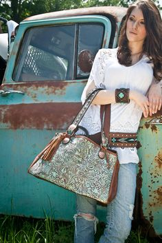 There is no such thing as too much turquoise. Accessories by Double J Saddlery.