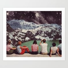 """Glacial"" - Print of original collage<br/> © Beth Hoeckel<br/> See more at www.bethhoeckel.com"