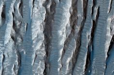 Blue by hue. Azure Martian outcroppings.