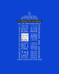 Tardis Dr Who11th Dr Typography  8x10  Print by TypoRific on Etsy, $15.00