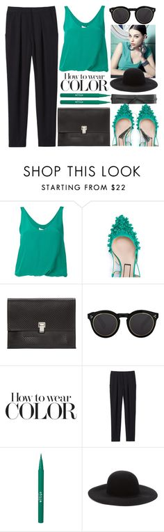 """""""Office Lunch Break"""" by jiabao-krohn ❤ liked on Polyvore featuring 3.1 Phillip Lim, N°21, Proenza Schouler, Illesteva, Rebecca Taylor, Stila and Forever 21"""