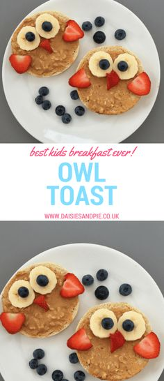 The cutest kids breakfast recipe ever! Our owl toast is a really healthy breakfast recipe for kids, ideal for brightening up back to school breakfast time.