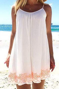 Printed Halter Backless Chiffon Beach Dress