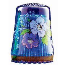 Blue Floral Thimble