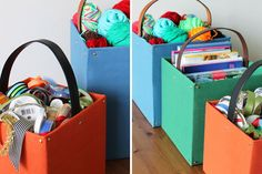 Belted Storage Totes // 20 DIY Mother's Day Gifts All Under $20 And 20 Minutes