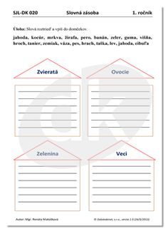 SJL-DK 020 (1. ročník)   datakabinet.sk Line Chart, Education, School, Speech Language Therapy, Onderwijs, Learning