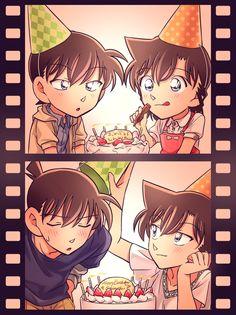 Happy birthday to shinichi Kudo Ran And Shinichi, Kudo Shinichi, Sherlock Holmes, Manga Anime, Anime Art, Detektif Conan, Detective Conan Wallpapers, Pokemon, Gosho Aoyama