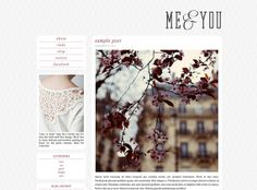 Modern Clean Premade Blogger Blog Theme - Me and You
