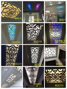 Buy Pvc hollow carved plate MDF ceiling partition screen porch flower lattice flower plate corridor decorative wall in