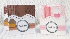 Chocolate and Strawberry Mini  Thank You Cards set of 15 | luvncrafts - Cards on ArtFire