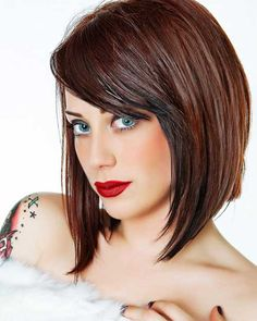 Among the current best hairstyles for thick hair are long, sleek layered bobs or long bobs with loose waves and a trendy straight-across fringe. Description from lovely-hairstyles.com. I searched for this on bing.com/images