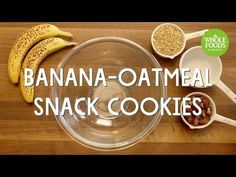 Banana-Oatmeal Snack Cookies l Whole Foods Market Pineapple Recipes Healthy, Healthy Chicken Recipes, Healthy Desserts, Low Carb Recipes, Whole Food Recipes, Healthy Cooking, Spinach Recipes, Keto Snacks, Healthy Food
