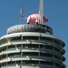 Pink Floyd pig atop the Capitol Tower