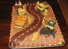 Construction Site Cake--for brenda to see!  (and my boy someday :)