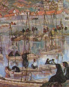 Indigenismo - Jorge Vinatea Reinoso - Caballitos de totora Peruvian Art, Latin America, Paintings, Decor, Cross Stitch, Artists, Art, Painting Art, Painting