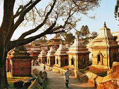 NEPAL At the riverside Pashupatinath, a Hindu temple in Kathmandu, visitors are welcome to stroll the grounds.